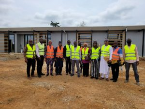 EVC VISITS DELORENZO SPA PREFABRICATED CONSTRUCTION SITE AT ACCRA, GHANA
